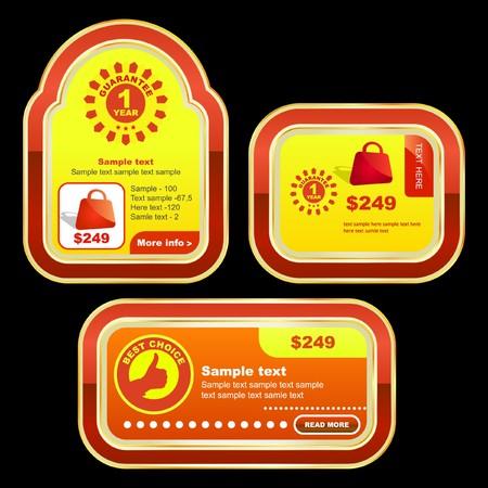 Set of sale labels for sale