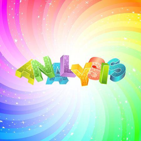 argumentation: ANALYSIS. Rainbow 3d illustration.