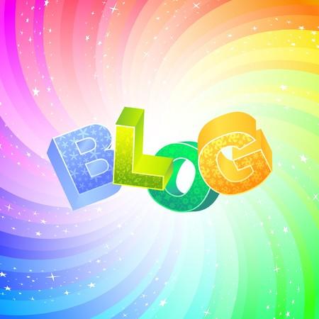 BLOG. Rainbow 3d illustration.