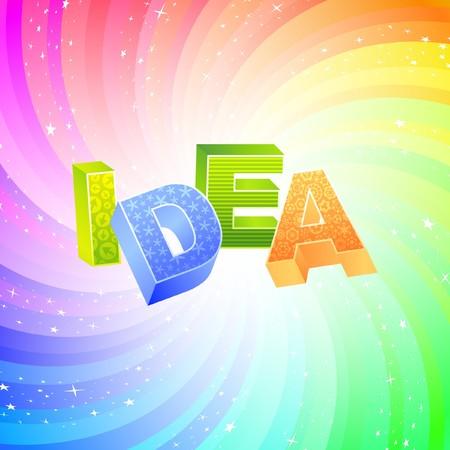 IDEA. Rainbow 3d illustration.   Vector