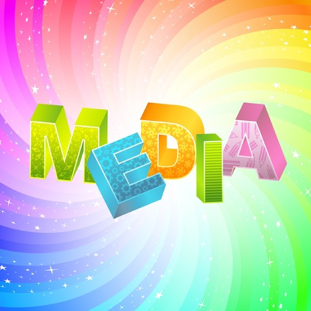 MEDIA. Rainbow 3d illustration.   Vector