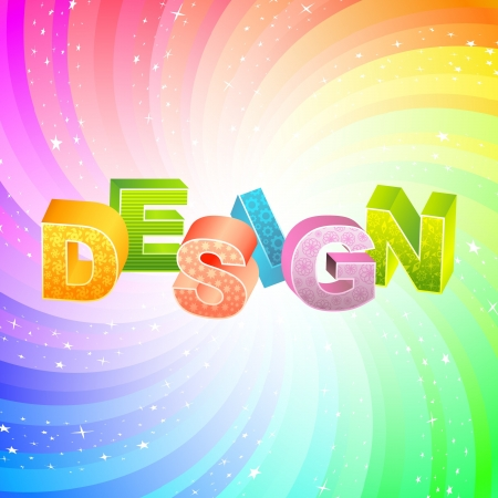digital paint: DESIGN. Rainbow 3d illustration.