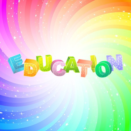 EDUCATION. Rainbow 3d illustration.   Vector