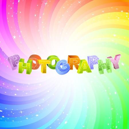 PHOTOGRAPHY. Rainbow 3d illustration.   Vector
