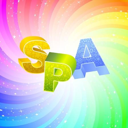 SPA. Rainbow 3d illustration.