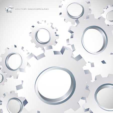 Gear background. Vector