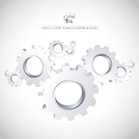 Gear background. Abstract illustration. Vector