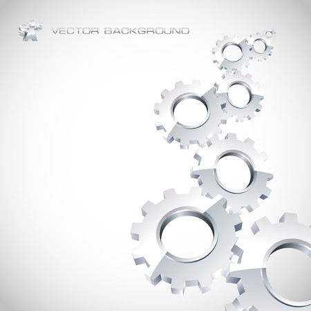 factory automation: Gear background. Abstract illustration.