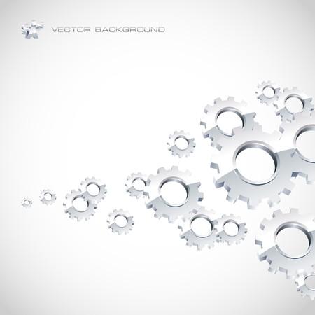 advertising construction: Gear background. Abstract illustration.   Illustration