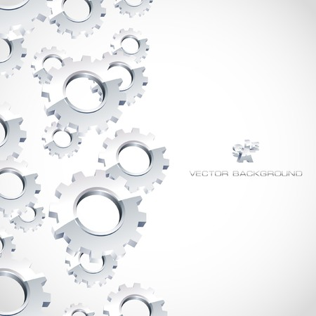industrial automation: Gear background. Abstract illustration.   Illustration