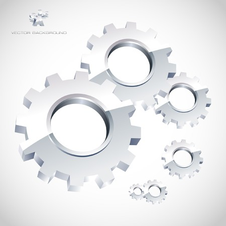 chrome wheels: Gear background. Abstract illustration.   Illustration
