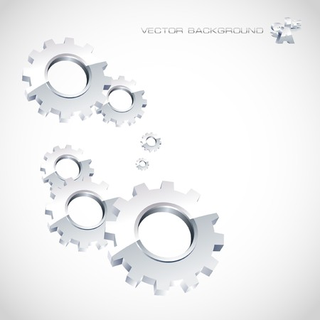 factory automation: Gear background. Abstract illustration.   Illustration
