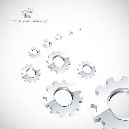 Gear background. Abstract illustration.   Stock Vector - 7852271