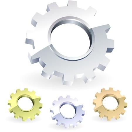 herramientas de mec�nica: Conjunto de iconos de engranaje.