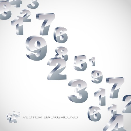 account form: Abstract background with numbers.   Illustration