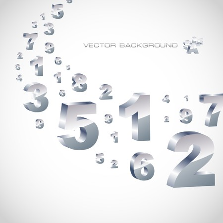 six web website: Abstract background with numbers.   Illustration
