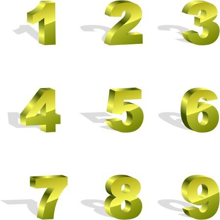 cijfer vier: Nummer icon set.