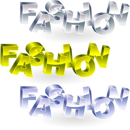 FASHION. Metal 3d illustration.