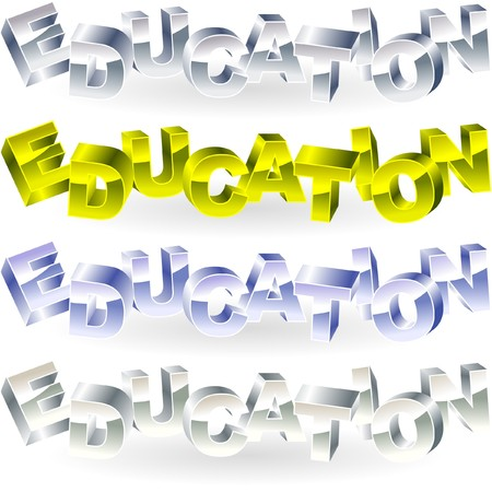 EDUCATION. Metal 3d illustration. Stock Vector - 7800848