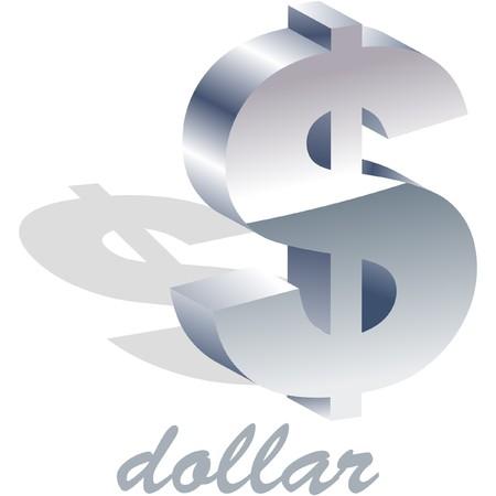 Dollar icon. Vector