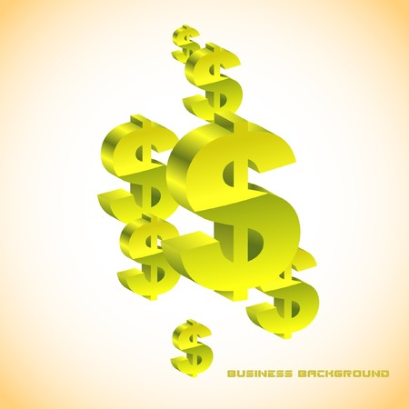 Abstract background with dollar. Vector