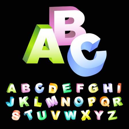 display type: Alfabeto para dise�o.