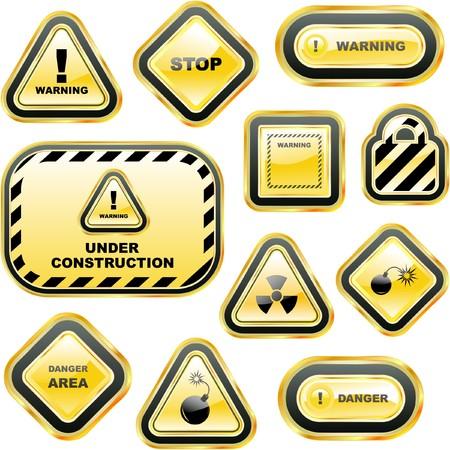 zone: Waarschuwings lab els.  Stock Illustratie