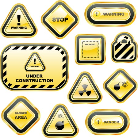 Warning  labels. Stock Vector - 7800614