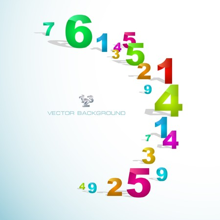 number 5: Abstract background with numbers.   Illustration