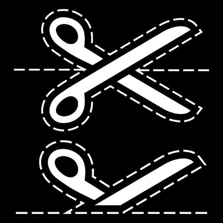 hyphen: Forbici con linee di taglio