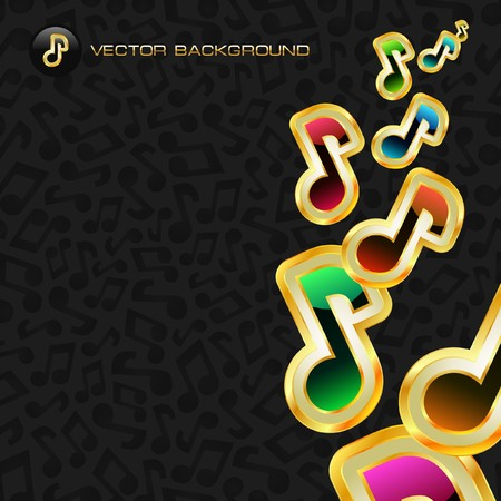 Abstract background with notes.   Vector
