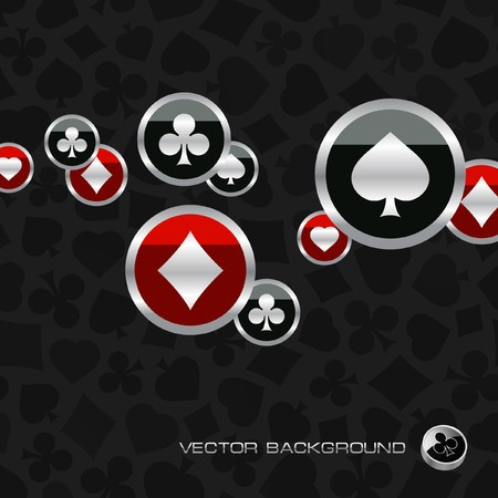 Abstract background with card suits. Vector