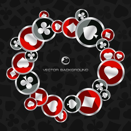 Abstract background with card suits. Stock Vector - 7800644