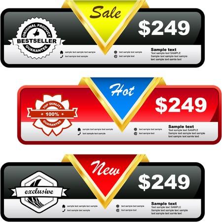 Set of sale banner Stock Vector - 7800601