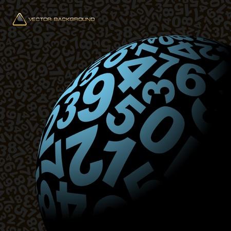 nombres: Globe avec nombre de m�lange.