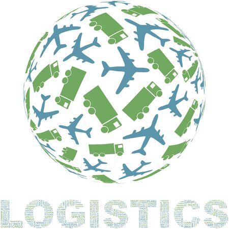 fliesband: Globus mit Transport-Mix.