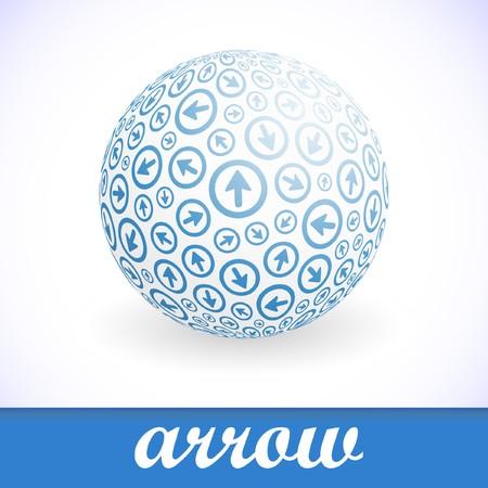 Globe with arrow mix.  Stock Vector - 7800637