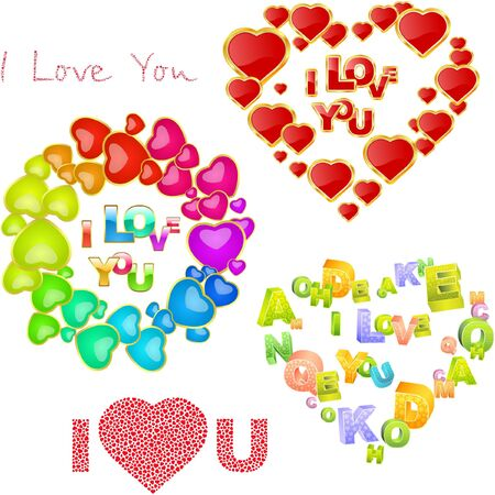 Love message. Great collection. Vector