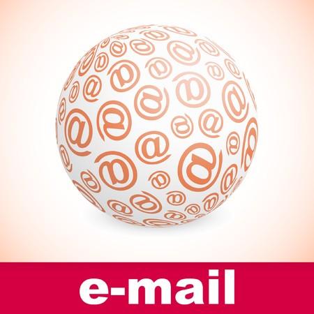 E-mail. Abstract globe. Stock Vector - 7880670