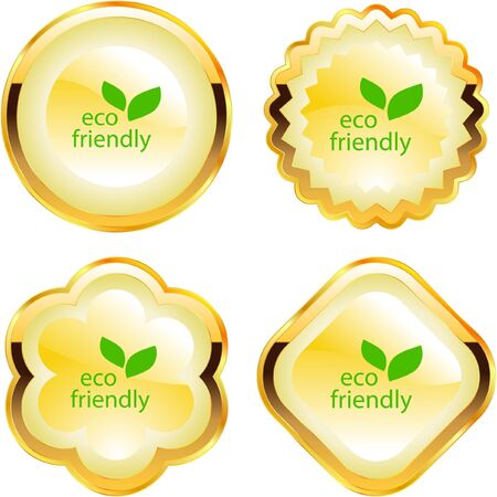 Set of eco friendly, natural and organic labels. Stock Vector - 7800638