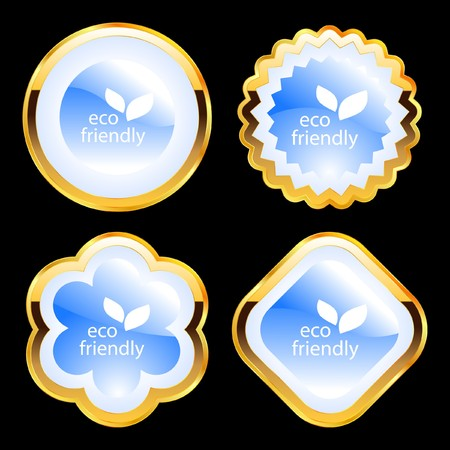 Set of natural labels. Stock Vector - 7819773