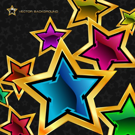 Abstract background with stars. Stock Vector - 7852345