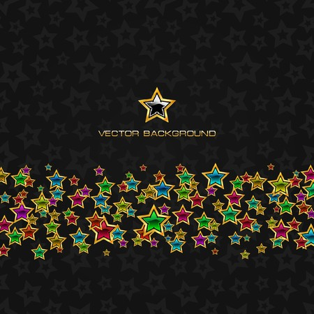 holiday celebrations: Abstract background with stars.