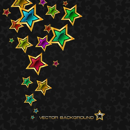 Abstract background with stars. Stock Vector - 7852350