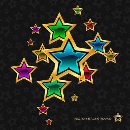 Abstract background with stars. Stock Vector - 7800618