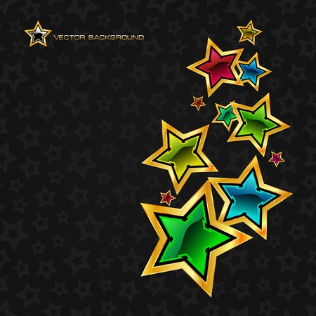 Abstract background with stars. Stock Vector - 7819733