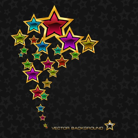 Abstract background with stars. Stock Vector - 7819735