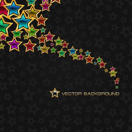 starburs: Fondo abstracto con estrellas.  Vectores