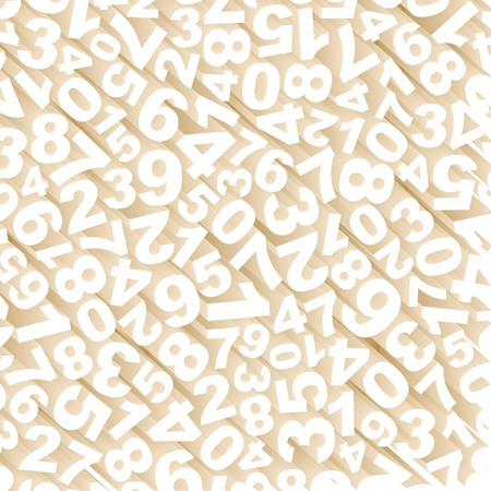 Number mix. Abstract background. Vector
