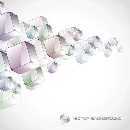 simple geometry: Abstract background with colorful boxes